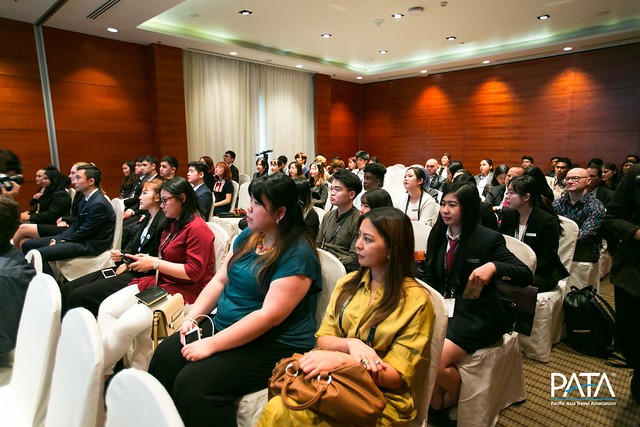 Picture of delegates watching a presentation at the PATA Annual Summit.