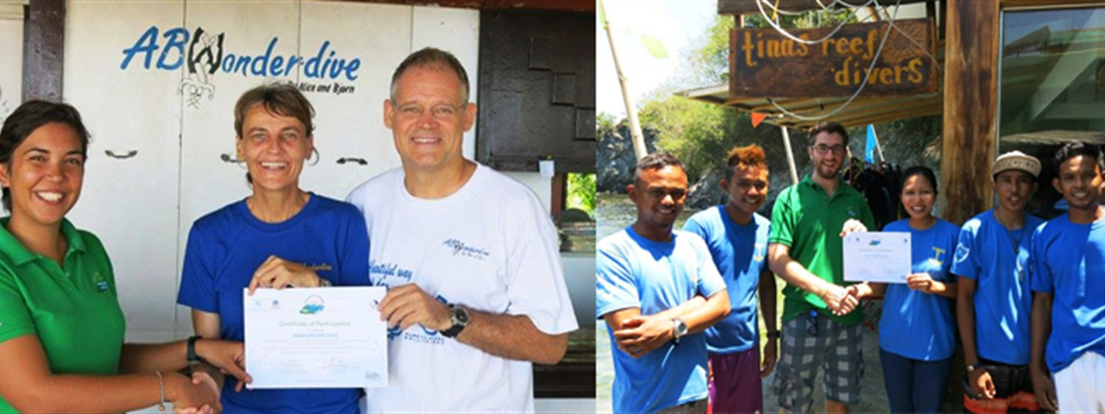 Pictures of Reef-World staff with the Green Fins team in Puerto Galera.