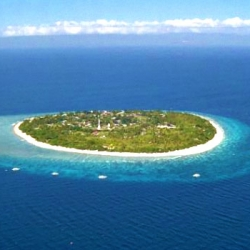 Picture of the island of Bohol and the surrounding ocean.