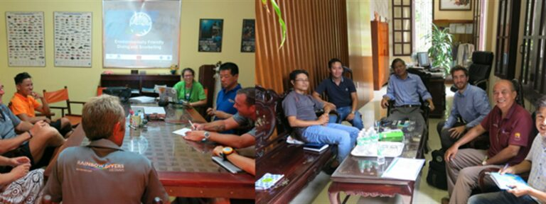 Pictures of the Green Fins assessments taking place in Vietnam.