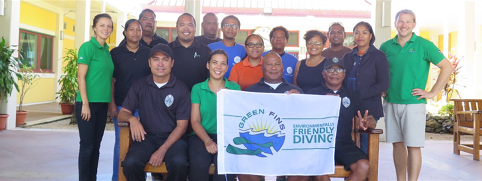 Picture of Reef-World team with the new assessors and coordinators from Green Fins Palau.