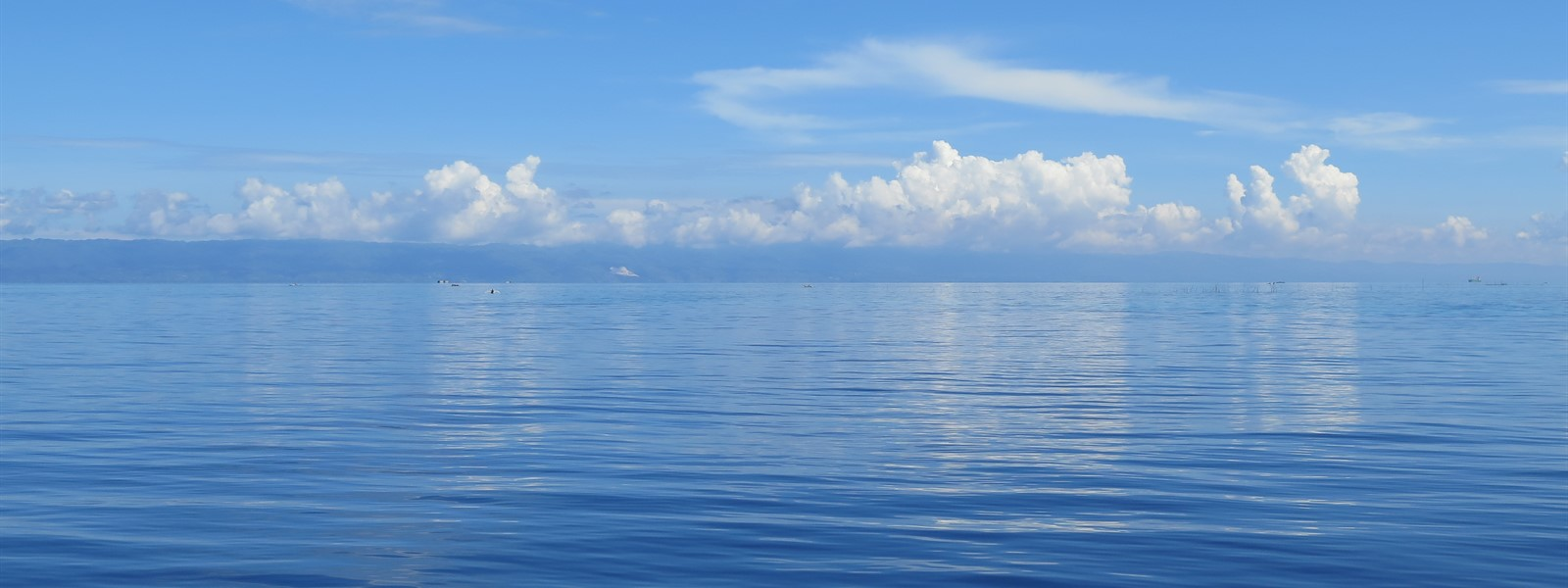 Picture of the ocean and sky in Panglao.