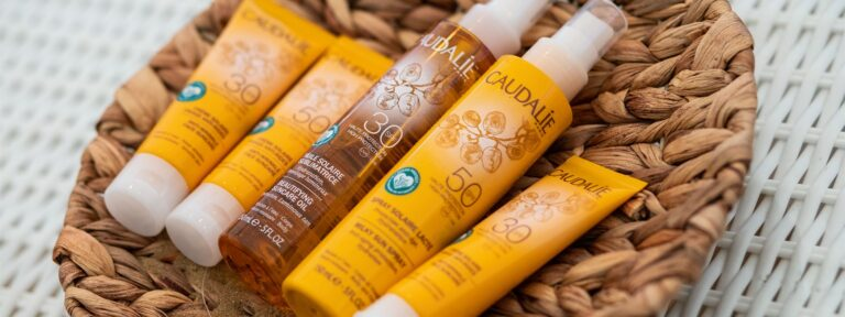 Picture of Caudalie reef-safe sunscreen products.