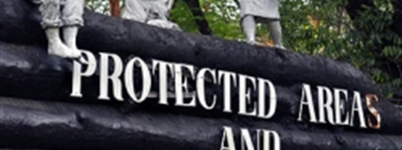Picture of a sign reading 'Protected Areas'.