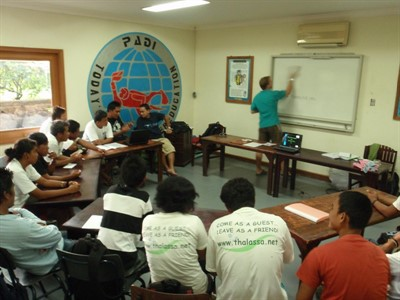 Picture of a training workshop led by the Green Fins team in Indonesia.