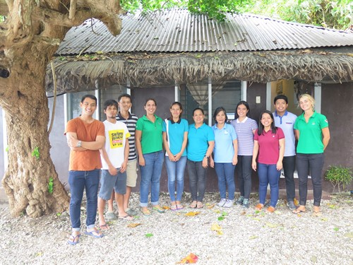 Picture of the Reef-World and Green Fins Philippines teams.