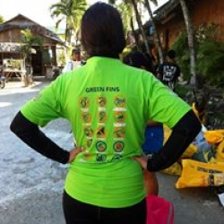 Picture of a member of the Green Fins team in Moalboal, Philippines.