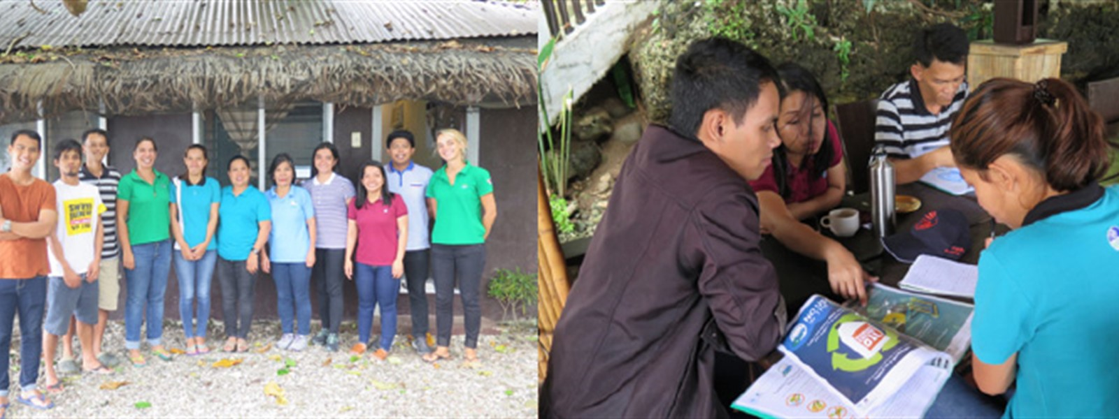 Picture of the Reef-World team with the Green Fins Coordinators in Mabini.