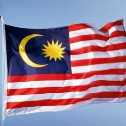 Picture of the Malaysian flag.