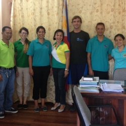 Picture of the Reef-World team with the Green Fins team in Dauin, Philippines.