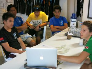Picture of Green Fins leading a training session for dive centre staff.