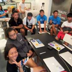 Picture of Green Fins members having a meeting in Singapore.