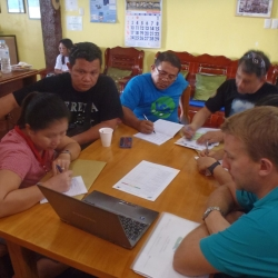 Picture of the Reef-World team leading training with government staff in Mactan, Philippines.