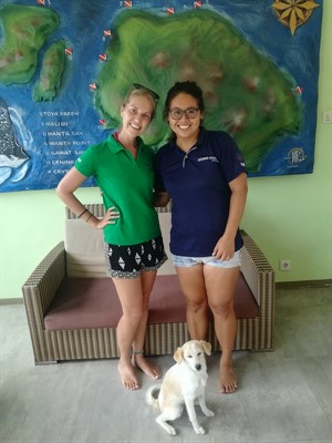 Photo of Green Fins assessor Melissa Hobson with Jesie Tan from Legend diving Lembongan