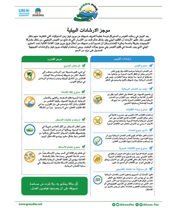 Environmental briefing guidelines (Arabic - عربى)