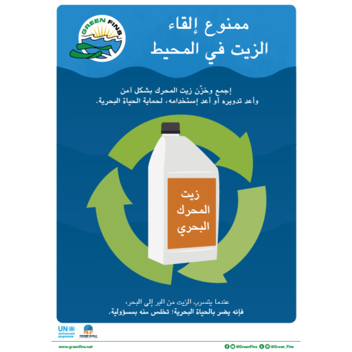 Used Oil Poster (Arabic - عربى)