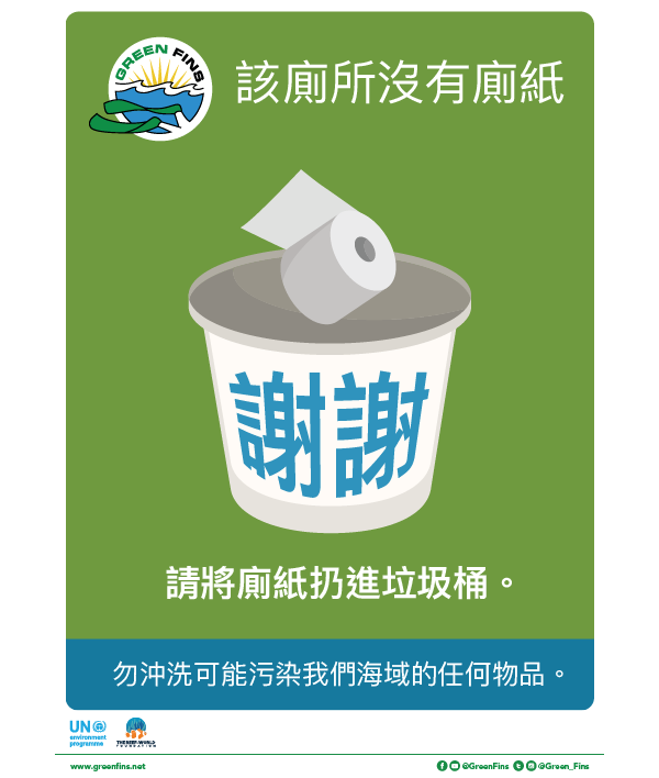 Marine toilet Sign (Traditional Chinese - 繁體中文)