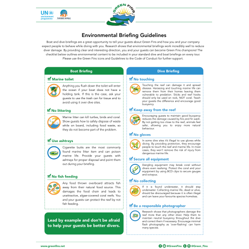 Environmental briefing guidelines