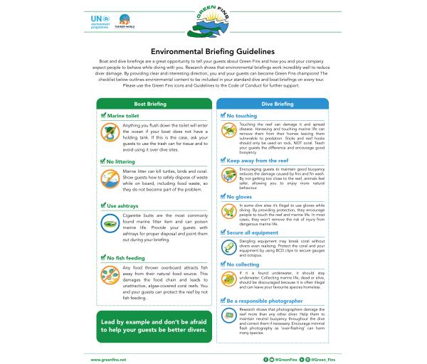 Environmental briefing guidelines