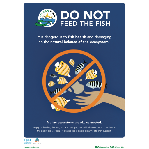 Do not feed the fish poster