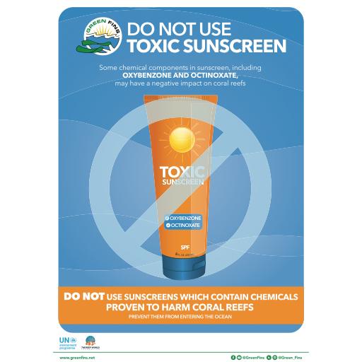 No Toxic Sunscreen Poster