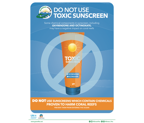 No Toxic Sunscreen Poster