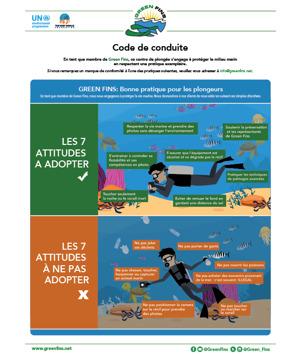 Green Fins Guidelines to the Code of Conduct – Diver (French - français)