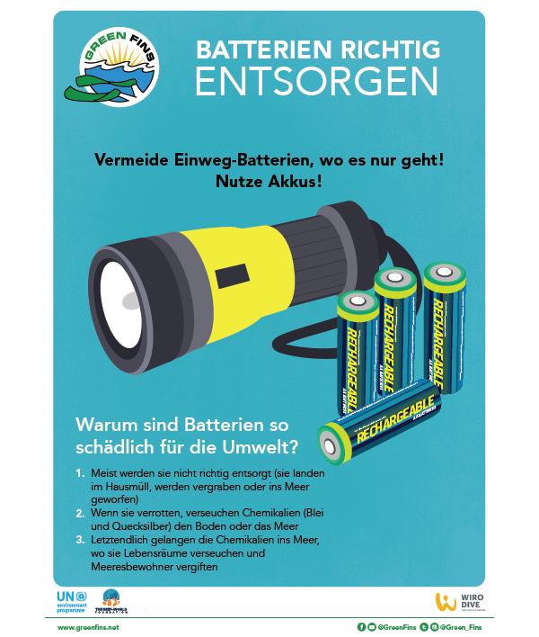 Battery Poster (German - Deutsche)