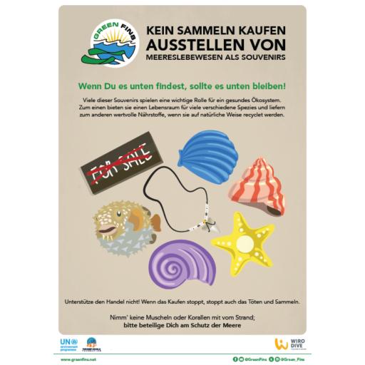 Marine Souvenirs poster (German - Deutsche)