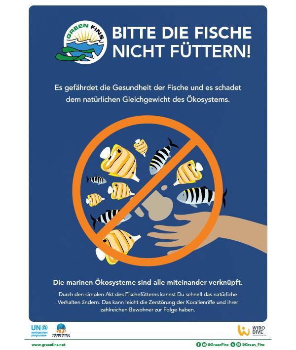 Do not feed the fish poster (German - Deutsche)