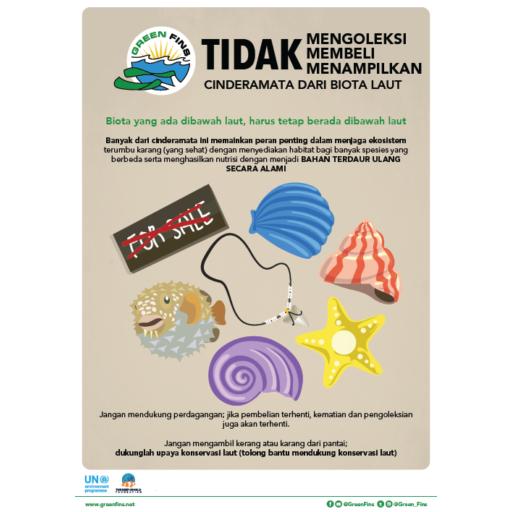 Marine Souvenirs poster (Indonesian - Bahasa Indonesia)