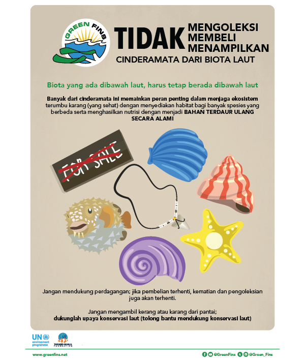 Marine Souvenirs poster (Indonesian - Bahasa Indonesia)