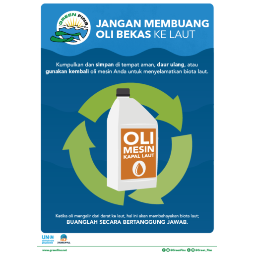 Used Oil Poster (Indonesian - Bahasa Indonesia)