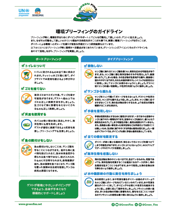 Environmental briefing guidelines (Japanese - 日本人)