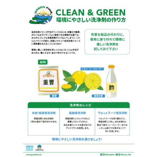 Non-Toxic Cleaning (Clean & Green) Recipe (Japanese - 日本人)