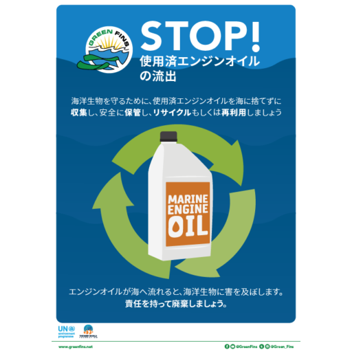 Used Oil Poster (Japanese - 日本人)