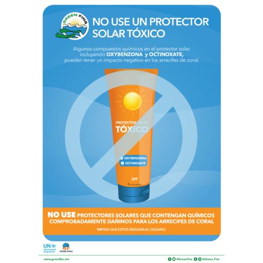 No Toxic Sunscreen Poster (Spanish - Español)