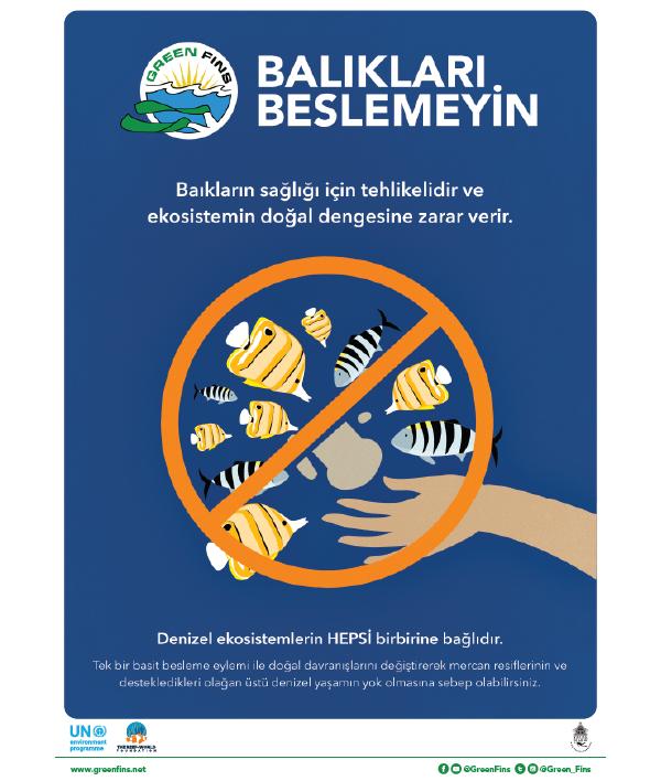 Do not feed the fish poster (Turkish - Türk)