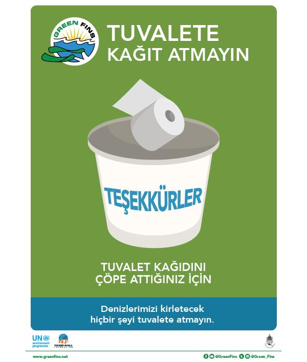 Marine toilet Sign (Turkish - Türk)